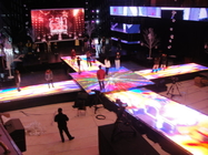 Energy Saving Custom Led Screens / Led Video Dance Floor 90mm Casing Thickness