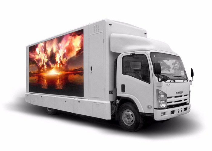 P10mm Movable Truck Mobile Led Display / Outdoor Mobile Led Screen Hire Customized Size